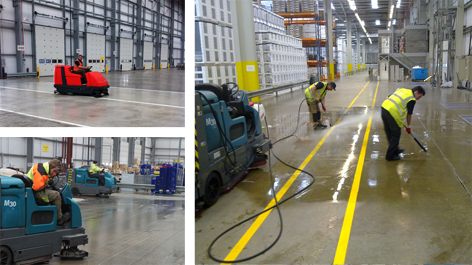 ISM Facilities Services warehouse cleaning